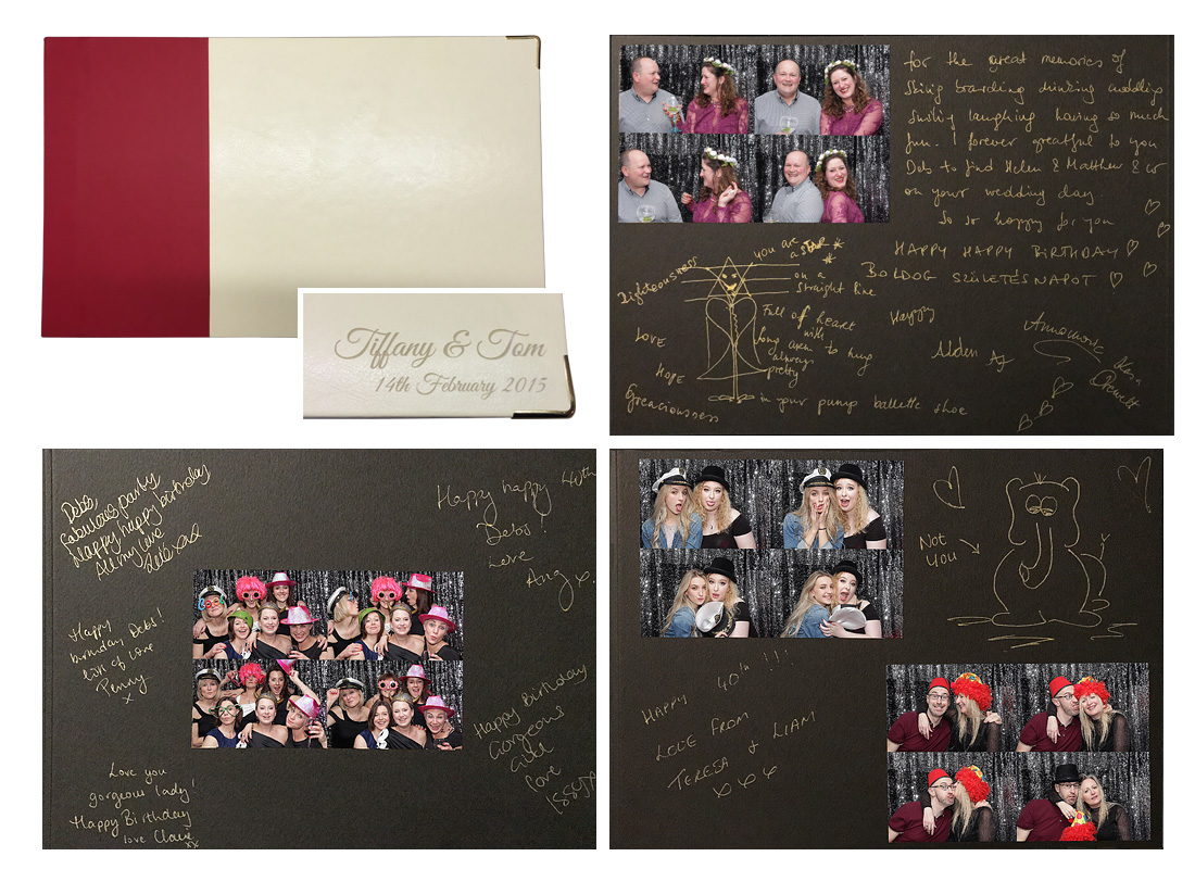 guestbook included with our photo booth hire