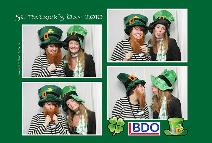 Photo Booth st patricks day theme