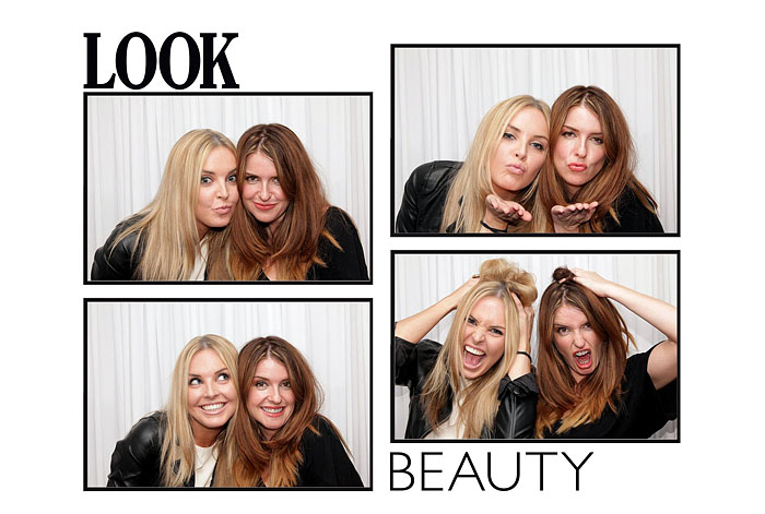 Photo Booth look and beauty theme