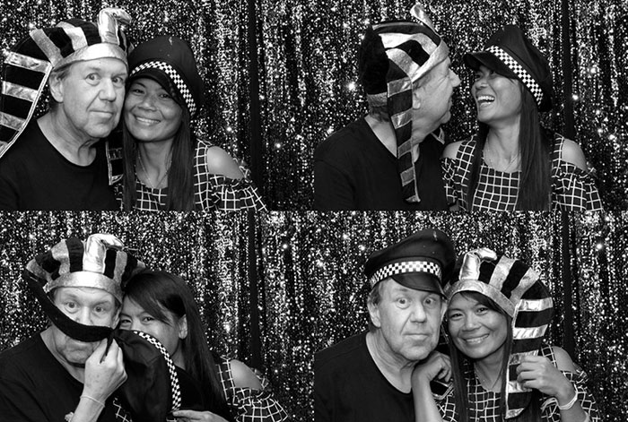 black and white or colour prints photo booth